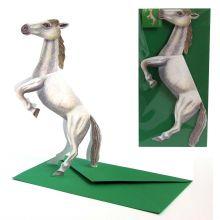 3D-Grusskarte Pferd