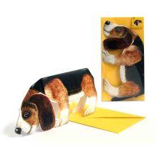 3D-Grusskarte Hund