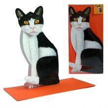 3D-Grusskarte Katze