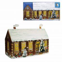 3D-Weihnachtskarte Haus mit spielenden Kindern