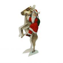 3D-Weihnachtskarte Nikolaus auf Rentier