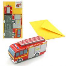 3D-Grusskarte  Feuerwehrwagen