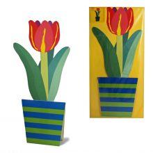 3D-Grusskarte Tulpe