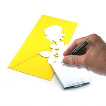 3D-Grusskarte Rose