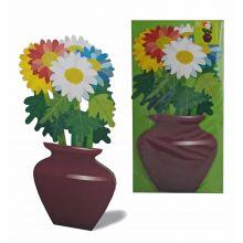 3D-grusskarte Chrysantheme
