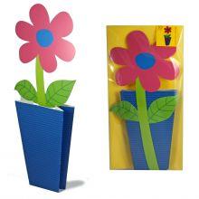 3D-Grusskarte Pinkfarbene Blume