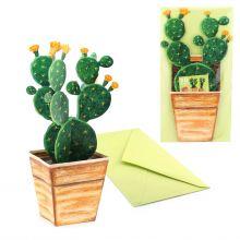 3D-Grusskarte Kaktus