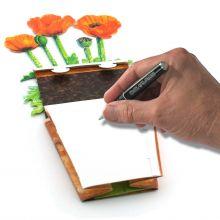 3D-Grusskarte Mohnblume