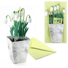 3D Greeting card snowdrops