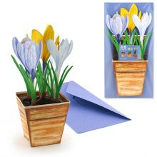 3D Greeting Card Crocuses