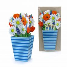 3D Greeting Card Bunch of flowers
