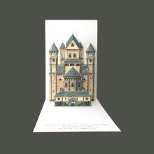 Pop-up-Karte der Klosterkirche Maria Laach