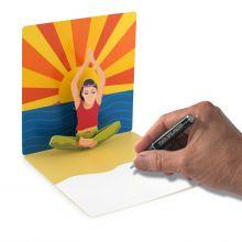 Pop-up-card Yoga woman