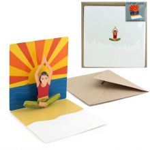 Pop-up-card Yoga woman