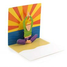 Pop-up-Karte Yoga-Mann