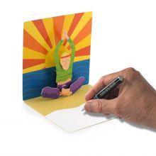 Pop-up-Karte Yoga-Mann