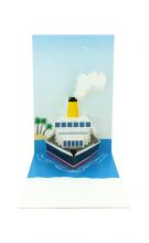 Pop up card of cruise ship
