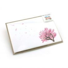 Pop up card with blooming magnolia trees