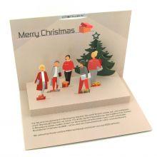 Pop-up-Karte als Weihnachtskarte