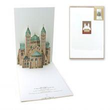 Pop-up-Karte des Doms zu Speyer