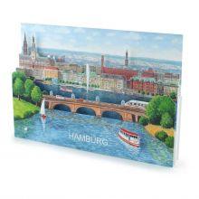 3D-Städtekarte von Hamburg