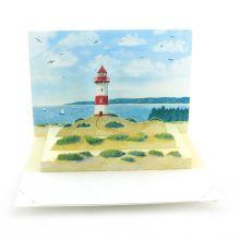 Pop-up-Karte Leuchtturm