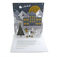 Pop-up-card  for a new building of the University Witten-Herdecke