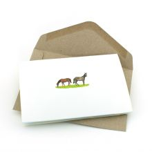 Pop up card with horses