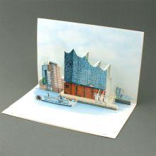 Pop up card of the Elbphilarmonie in Hamburg
