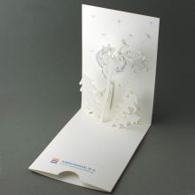 Pop-up-Karte für eine Unternehmensberaterin