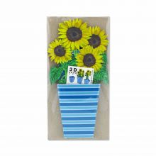 3D-Grußkarte Sonnenblumen