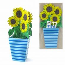 3D Greeting Card Sunflowers