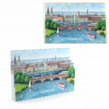 3d-Citycard of Hamburg
