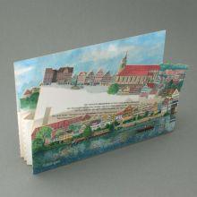 Dreidimensionale Städtekarte Tübingen