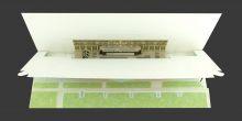 Pop-up-Karte der Maschinenhalle der Zeche Zweckel in Gladbeck
